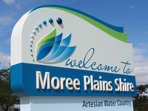 Entry Sign for Moree Plains Shire