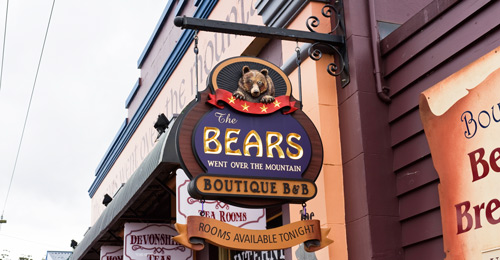 Bears Over the Mountain B&B Sign
