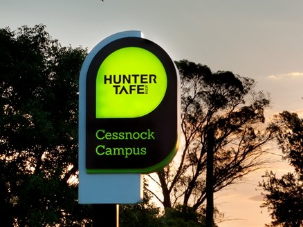 Cessnock Campus illuminated sign
