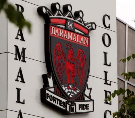 crest and letters installed at Daramalan College