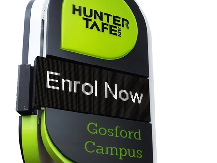 Gosford Campus LED sign