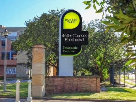 Hunter Institute Newcastle Campus LED sign