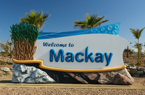 Mackay Regional Council entry sign