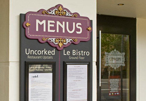 Menu and Restaurant Signs