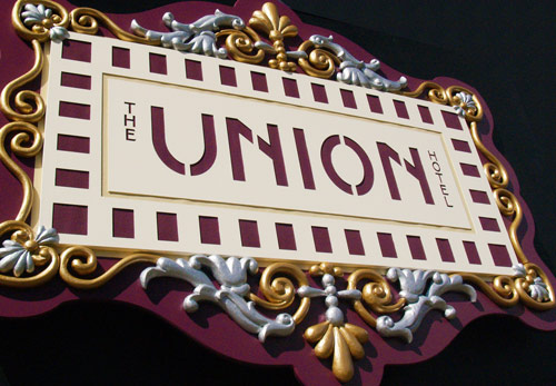 Carved Sign for Union Hotel