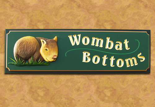 Wombat Bottoms House Sign