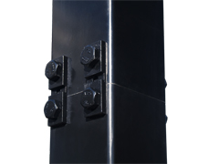 Frangible pole hinge plate