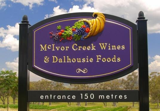 McIvor Creek Winery Sign