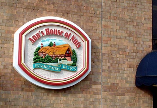 Anne's House of Nuts Business Sign