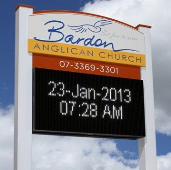 Bardon Anglican Church LED sign