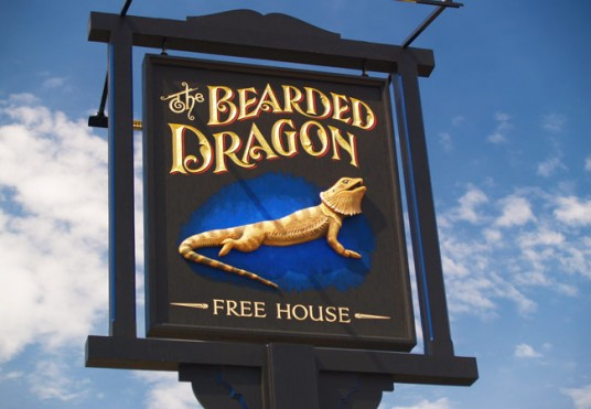 Bearded Dragon Pub Sign
