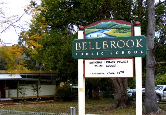 Bellbrook Public School entry sign