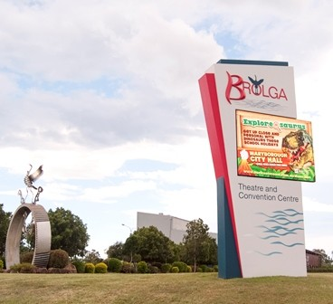 Brolga Theatre and Convention Centre LED display board