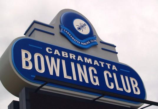 Cabramatta Bowling Club Sign