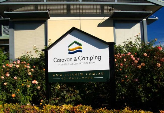 Camping & Caravan Association Club Sign