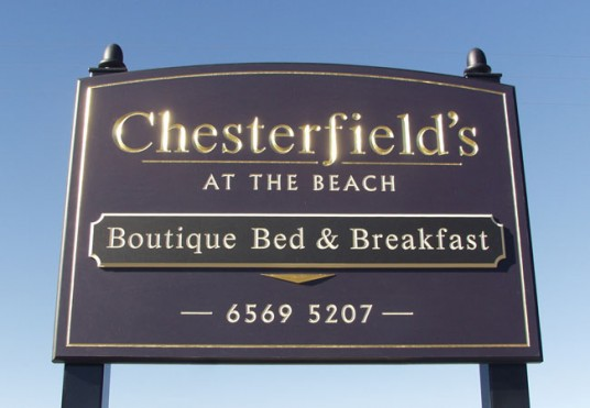 Chesterfields B&B Sign