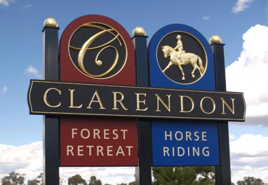 Clarendon B&B Sign