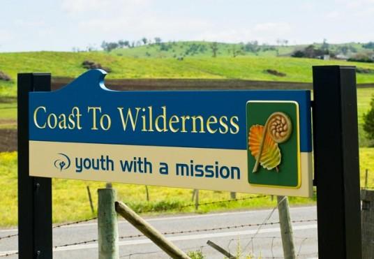 Coast to Wilderness Church Sign