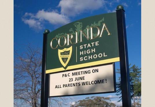 Corinda State High School Sign System
