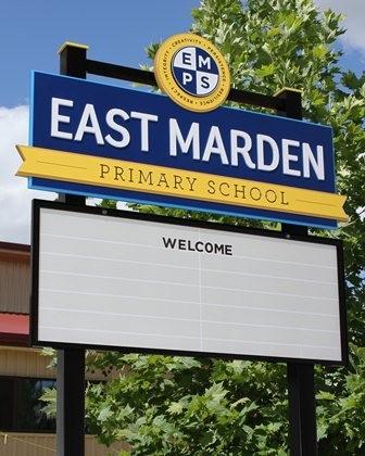 East_Marden_Primary_School_magnetic_messageboard_sign
