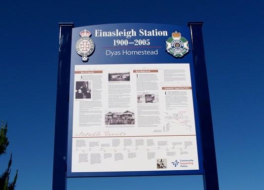etheridge police station signage danthonia designs au