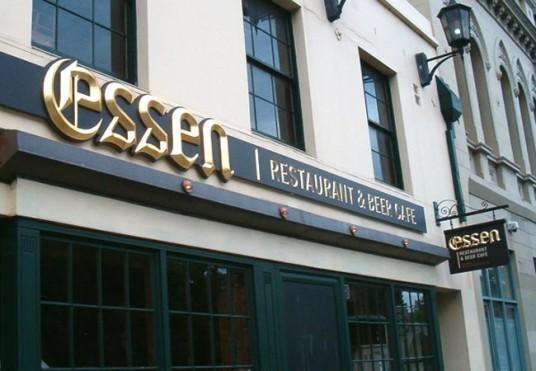 Essen Restaurant Sign