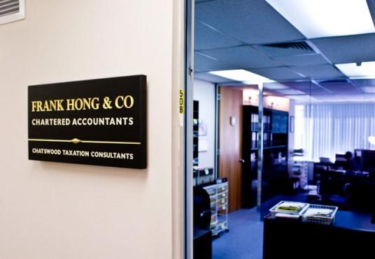 Frank Hong & Co. Business Sign