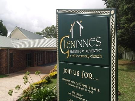 Glen Innes Seventh-Day Adventist Church Sign