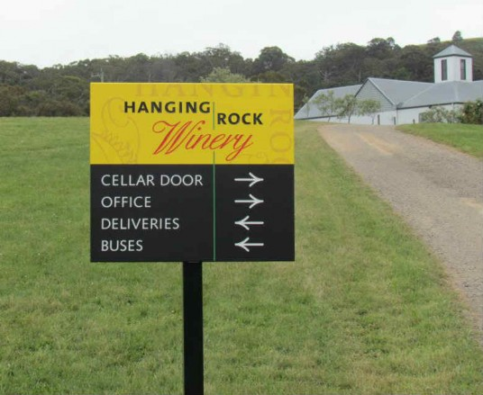 Hanging Rock Winery signs
