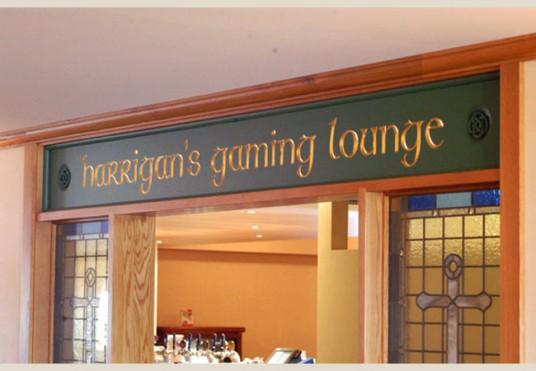 Harrigan's Gaming Lounge Club Sign