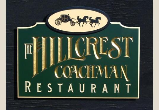 Hillcrest coachman restaurant sign danthonia designs au
