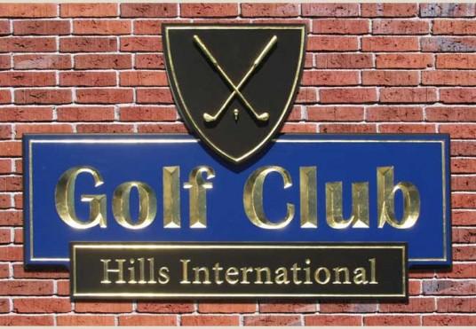 Hills International Golf Club Sign