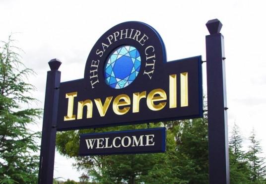 Inverell Pylon Local Government Sign