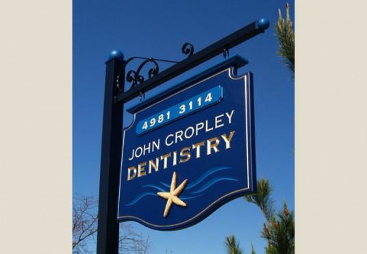 John Cropley Dentist Sign