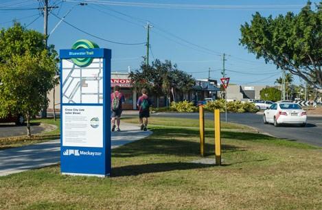 Cross City Link wayfinding sign