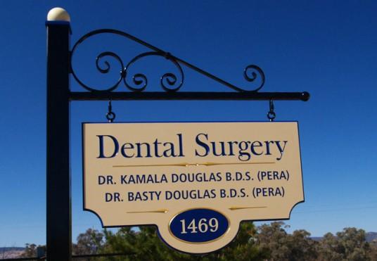 Kamala Douglas Dentist Sign