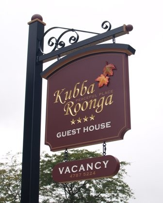 Kubba Roonga Guesthouse Sign