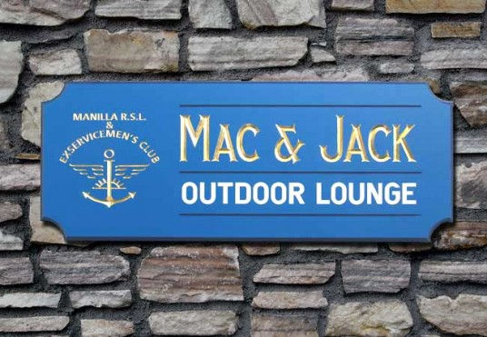 Mac & Jack Club Sign