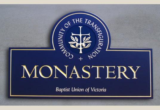 Community of the Transfiguration Monastery Sign