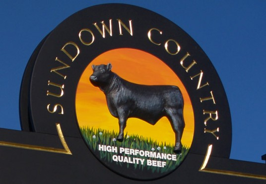 Sundown Pastoral Company Newstead Property Sign