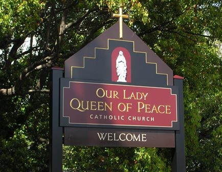 Our Lady Queen of Peace Catholic Church, Gladesville Sign