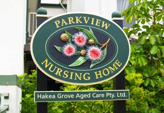 Parkview Aged Care Sign