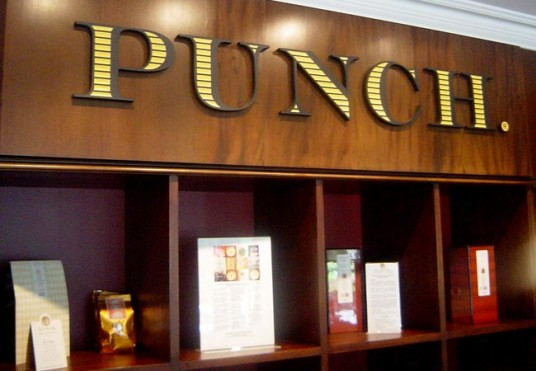 Punch Coffee Business Sign