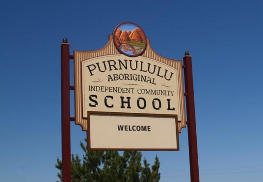 Purnululu Aboriginal Independent Community School pylon & wall signs