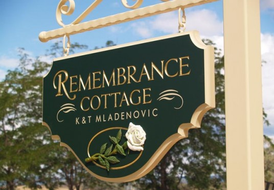 Remembrance Cottage Property Sign