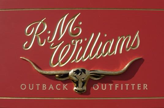 RM Williams Retail Sign Up Close