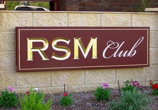 wall branding sign for the RSM club