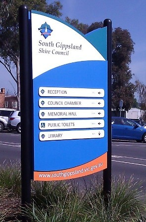 South Gippsland Shire Council Signage