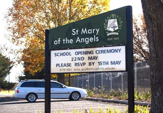 St Mary of the Angels School Sign System