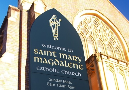 St Mary Magdalene Catholic Church Rose Bay Sign